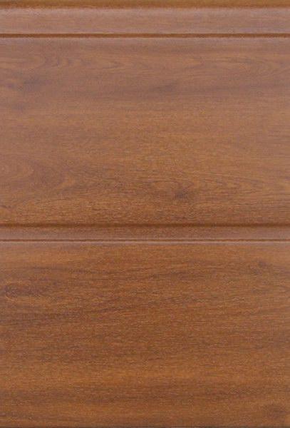 Aranytölgy széles bordás mintázat, sima felület, DITEC garázskapu panel