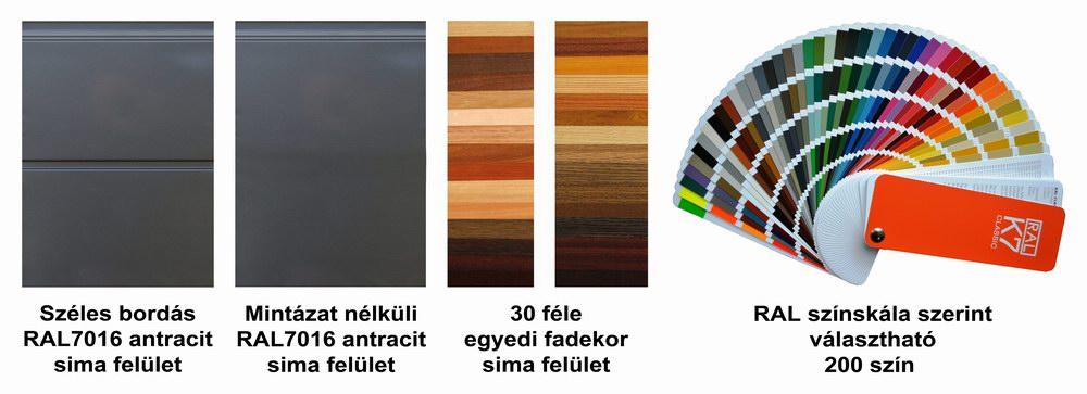 ECOTOR garázskapu panelek antracit, egyedi fadekor és festett kivitelben