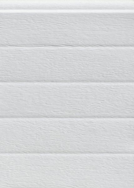 Keskeny bordás mintázat, fehér, faerezett felület, Ecotor garázskapu panel