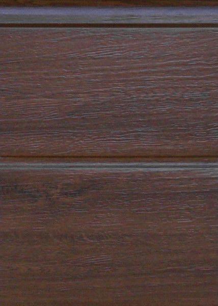 Széles bordás dió, faerezett felület, Ecotor garázskapu panel