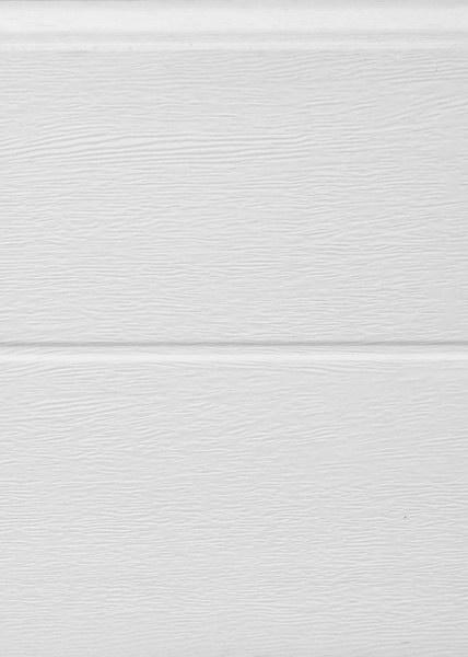 Széles bordás mintázat, fehér, faerezett felület, Ecotor garázskapu panel