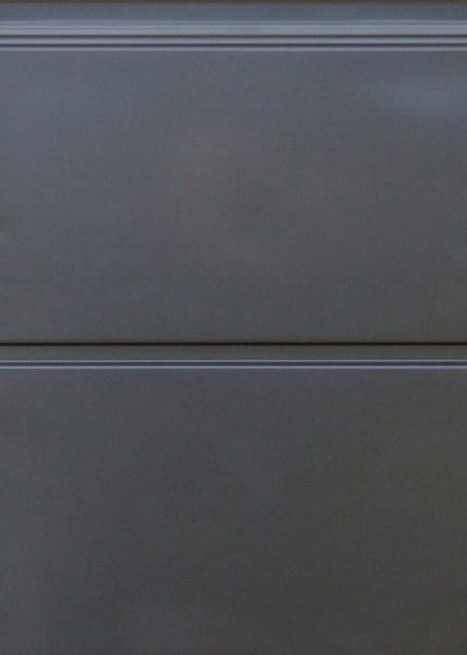 Széles bordás mintázat, RAL7016 antracit, sima felület, Ecotor garázskapu panel