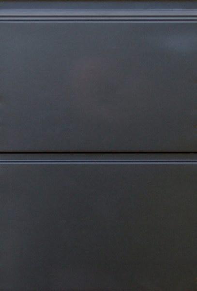 Antracit széles bordás mintázat, sima felület, DITEC garázskapu panel