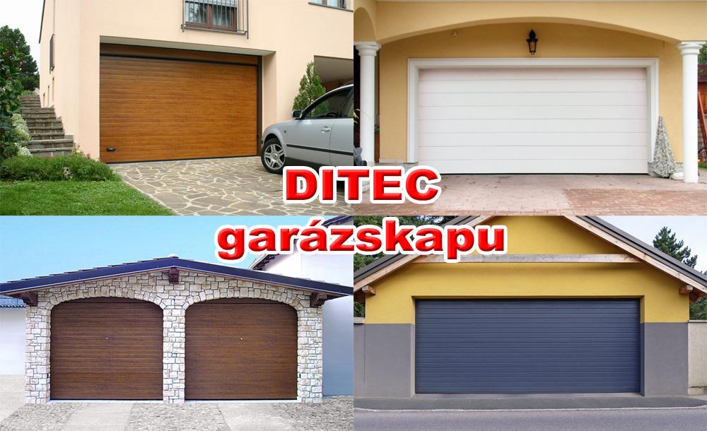 DITEC garázskapu - Biztonság, kényelem, elegancia, hosszú élettartam, minőség. Szekcionált garázskapu kimagasló hőszigeteléssel.