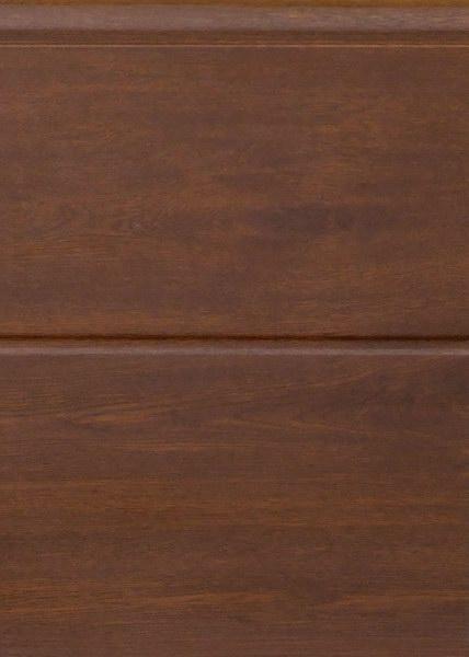 Széles bordás dió, sima felület, Ecotor garázskapu panel