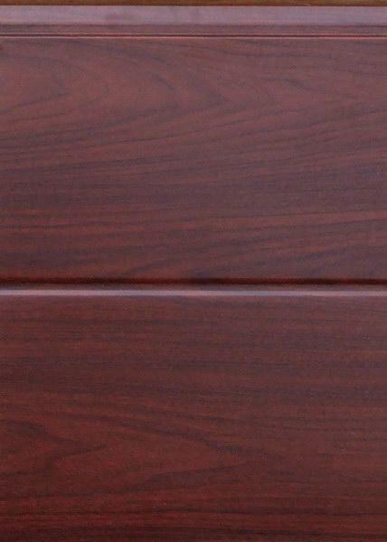 Széles bordás mahagóni, sima felület, Ecotor garázskapu panel